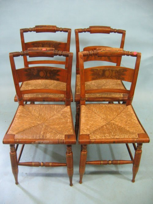 920360 4 STENCILED HITCHCOCK CHAIRS Lot 920360