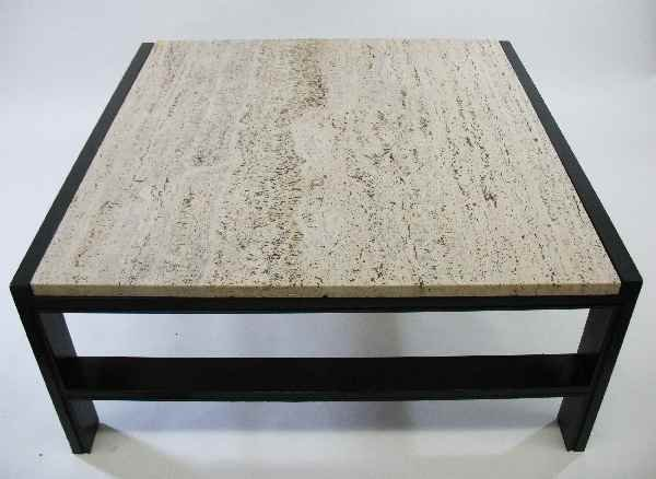 428301 baker furniture midcentury coffee table stone t lot 428301