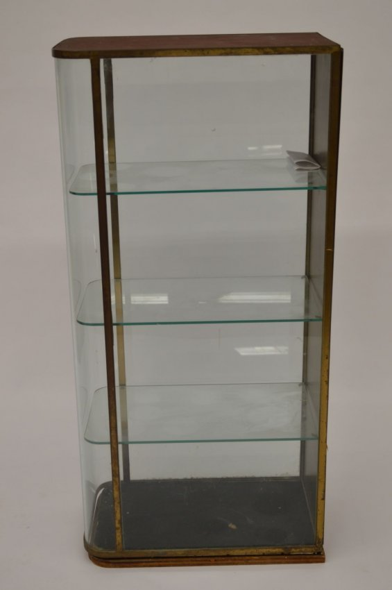 Art Deco Curved Glass Storage Display Case Lot 152