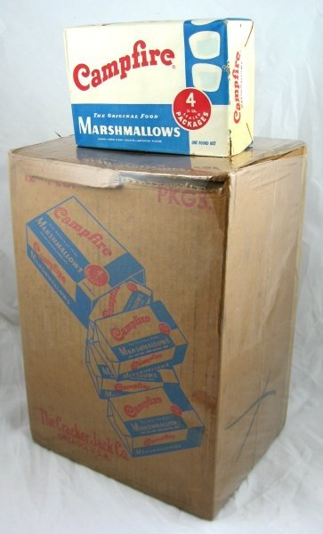 69: Campfire Marshmallows Box & Nos Full Package : Lot 69