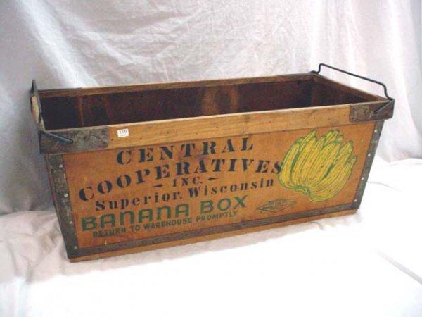 1116 stenciled wooden banana box lot 1116