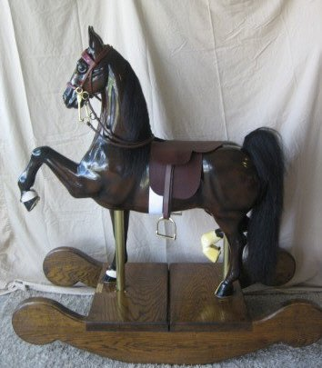 193 tom lovell hand crafted rocking horse lot 193 for Hand crafted rocking horse