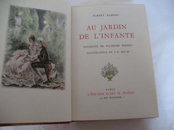 605 samain albert oeuvres p becat lot 605 for Au jardin de l infante albert samain