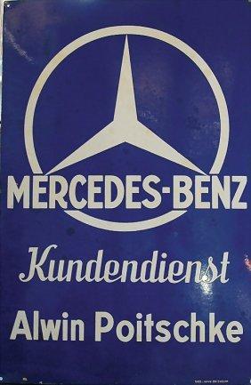 Gro es enamel sign mercedes benz customer service alwin for Mercedes benz customer support