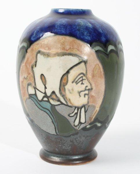 219 henriot quimper odetta portrait vase lot 219. Black Bedroom Furniture Sets. Home Design Ideas