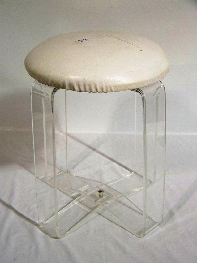 104 mid c modern lucite vanity stool lot 104