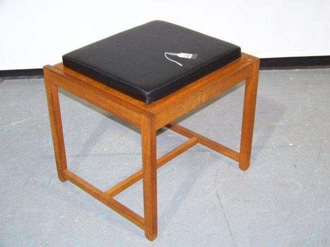 295 mid c modern mobler teak vanity stool lot 295