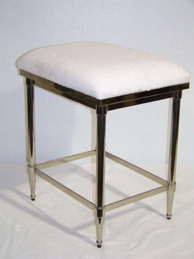 249 modern chrome vanity stool bench lot 249