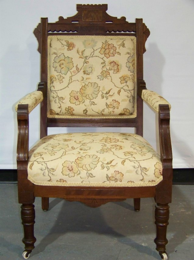 Great antique victorian east lake style arm chair lot
