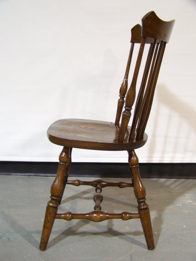 Pair Signed L Hitchcock Spindle Back Hitchcock Chairs Lot 81