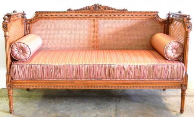 445 louis xv style banquette back and sides rou lot 445