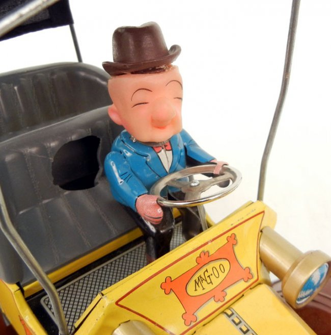 hubley mr magoo battery operated car marked japan on lot 92. Black Bedroom Furniture Sets. Home Design Ideas