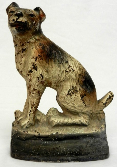 Creation co cast iron dog doorstop impressed on back lot 533 - Cast iron dog doorstop ...