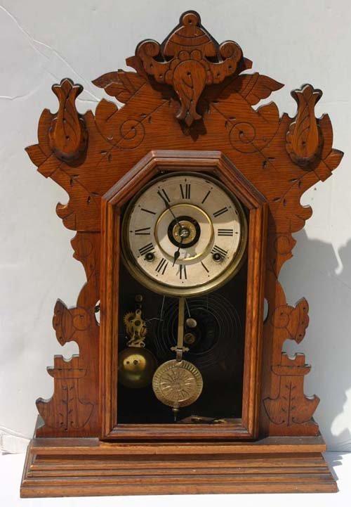 19thc Seth Thomas Gingerbread Alarm Clock Missin