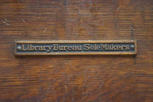 222 antique oak newspaper rack w library bureau sole lot 222. Black Bedroom Furniture Sets. Home Design Ideas