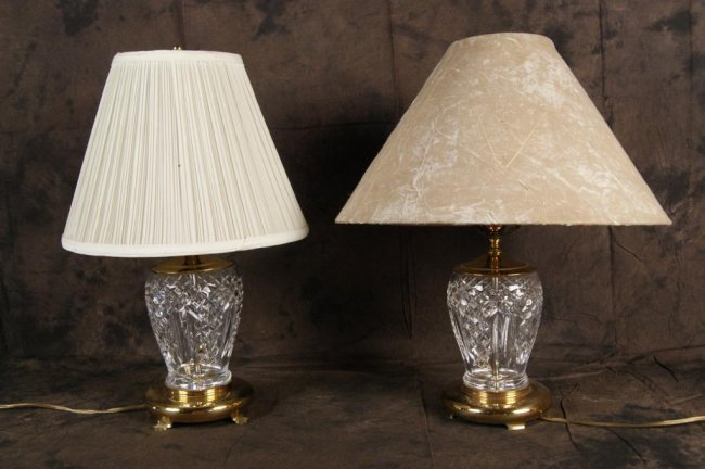 Salt Lamps Waterford : 4: Pair of Fine Waterford crystal lamps : Lot 4