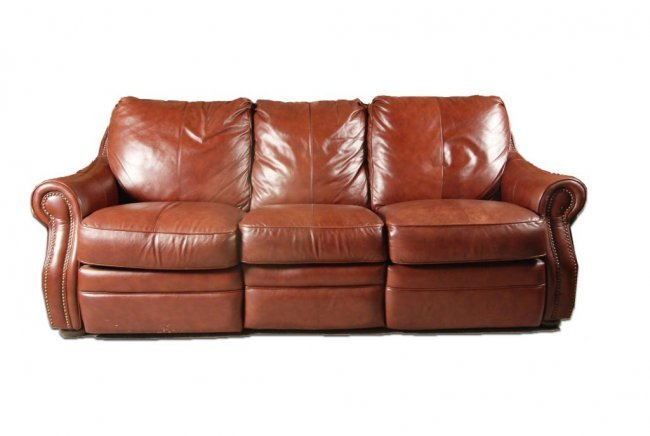 61 leather lazy boy sofa w pull wallaway seats lot 61 Leather lazy boy sofa