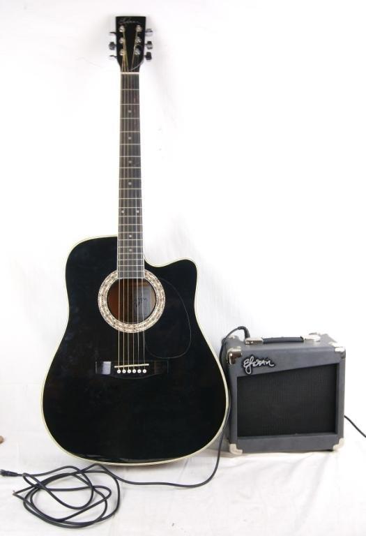 esteban dreadnought electro acoustic guitar package lot 43. Black Bedroom Furniture Sets. Home Design Ideas