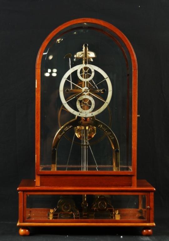 David walter quot great wheel quot skeleton clock 48 lot 184