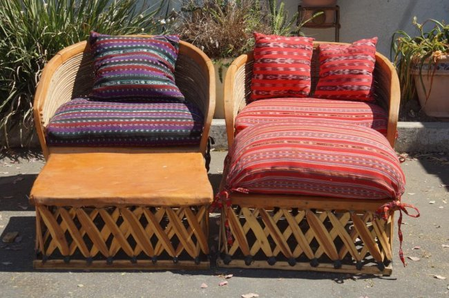 Equipale Mexican patio furniture leather chairs Lot 43