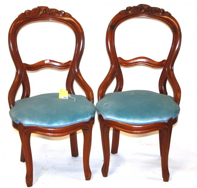 305 VICTORIAN PARLOR CHAIRS Lot 305
