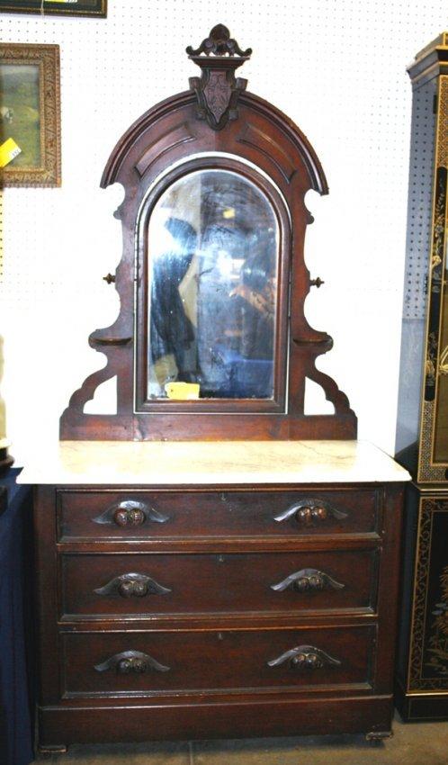 385 Victorian Marble Top Dresser Lot 385