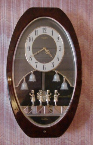 Menet Chiming Clock With Rotating Figures Antique Clocks Price