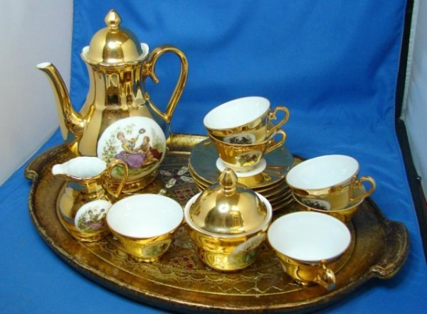 Gold Plated Coffee Set Gold Plated Coffee Set