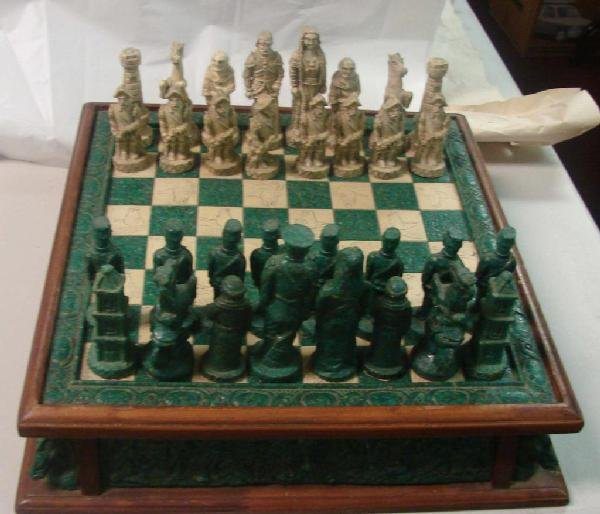 69 ornate chess set conquistadors vs confederacy lot 69 - Ornate chess sets ...