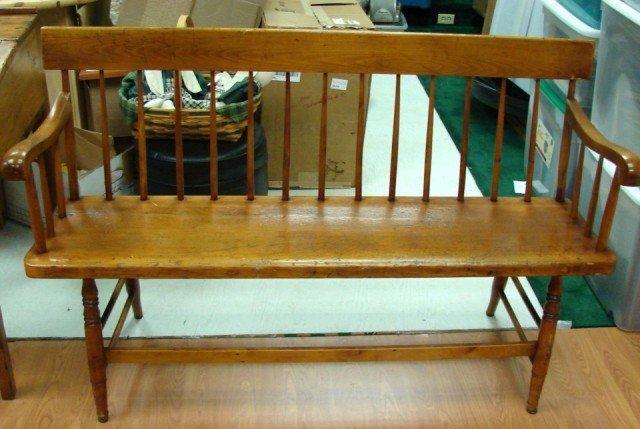 149a Antique Pine Deacon 39 S Bench C1850 Lot 149a