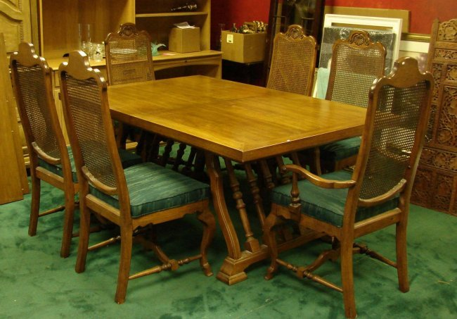 150c pecan dining room set 11 pcs lot 150c