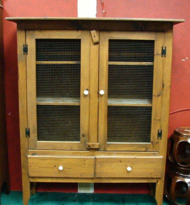 160D: Antique American Oak Pie Safe : Lot 160D