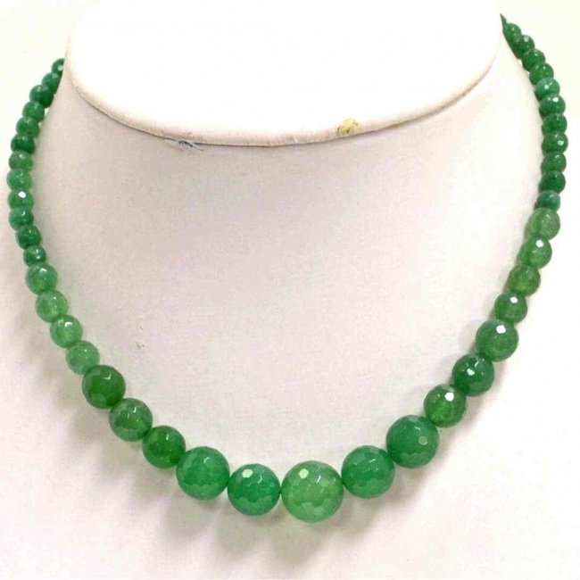 178a emerald bead necklace lot 178a