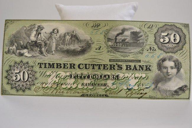 $50 1859 Timber Cutter's Bank Savannah, GA : Lot 1709M