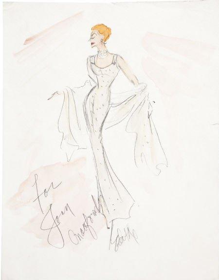 dress designs sketches. Joan Crawford Dress Design
