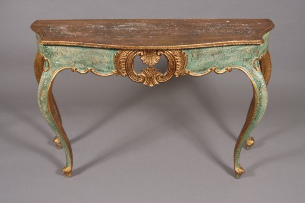 43: Venetian Rococo Style Console Table with Mirror, 20 : Lot 43