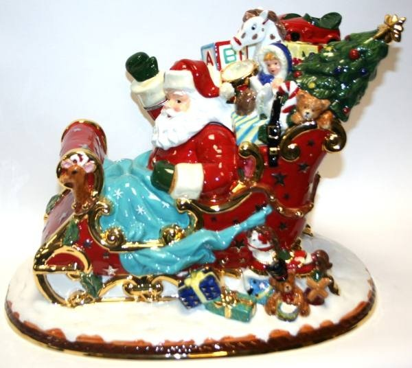 "Mccoys Christmas Trees: 327: Christopher Radko ""Sumptuous Sleighful"" Cookie Jar"