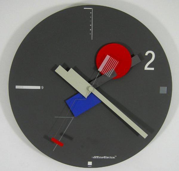 105 Mid Century Modern Canetti Memphis Wall Clock Lot 105