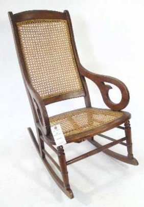 178 antique cane rocking chair lot 178