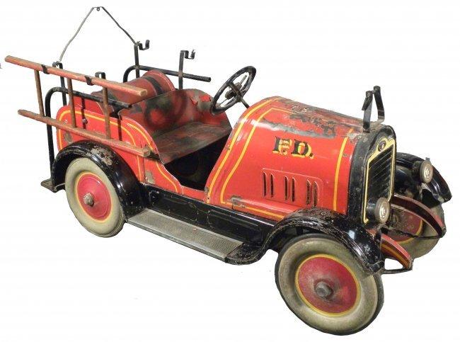 Fire Truck Pedal Car: 1465: 1927 Gendron Fire Truck Kids Pedal Car : Lot 1465