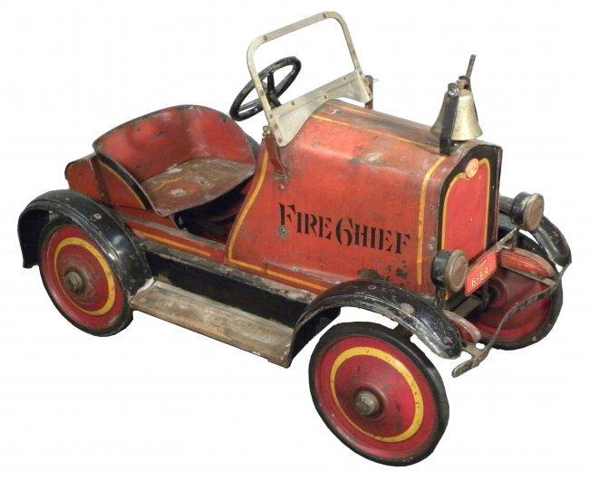 Fire Truck Pedal Car: 1920's Gendron Fire Truck Pedal Car : Lot 1970