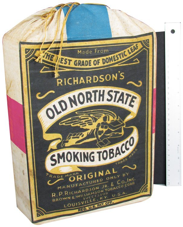Old North State Tobacco Store Display Pouch : Lot 1161