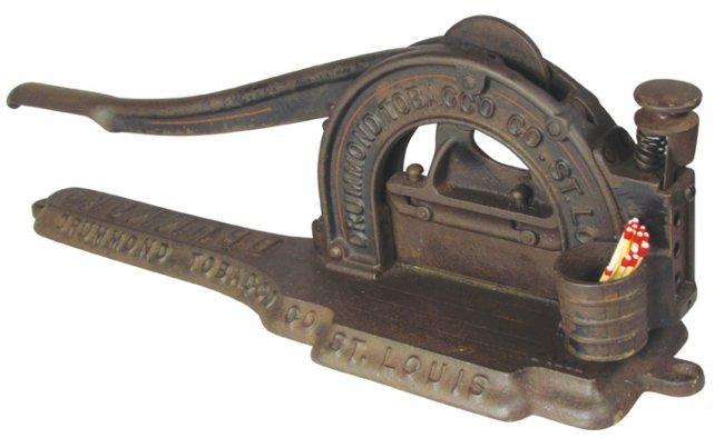 Drummond cast iron plug tobacco cutter lot