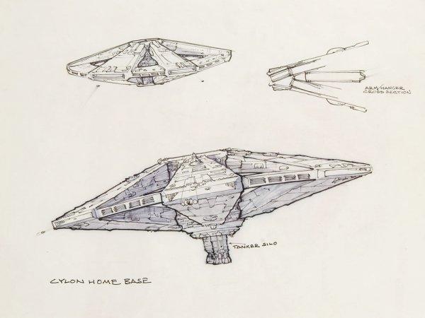 Battlestar Galactica Archive Of Artwork Amp Blueprints Lot 703