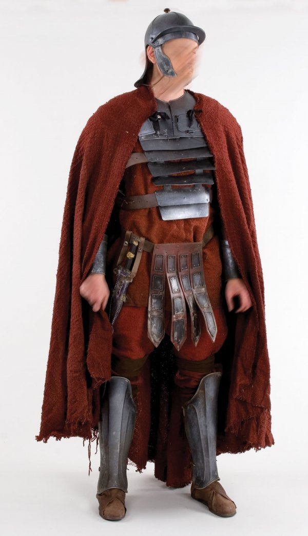 It is a picture of Unusual Roman Soldier Uniform Labelled