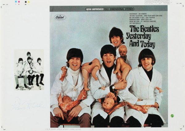 beatles yesterday today butcher block cover proof lot