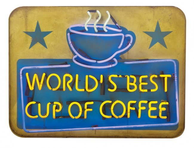 World S Best Cup Of Coffee Neon Sign From Elf Lot 1580