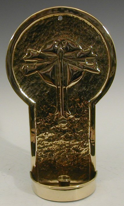 206 a scottish arts and crafts brass candle sconce for Arts and crafts candle sconces