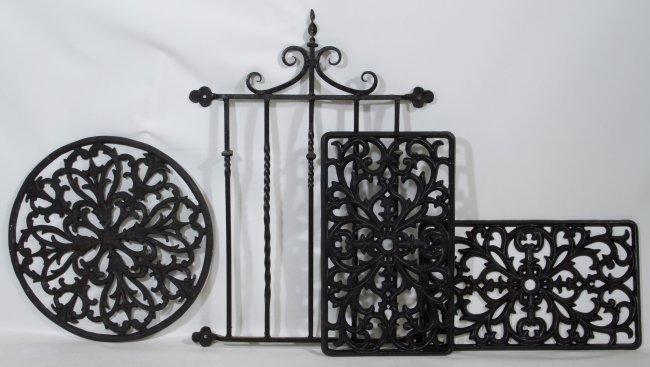 Cast Iron Garden Panels : Lot 231