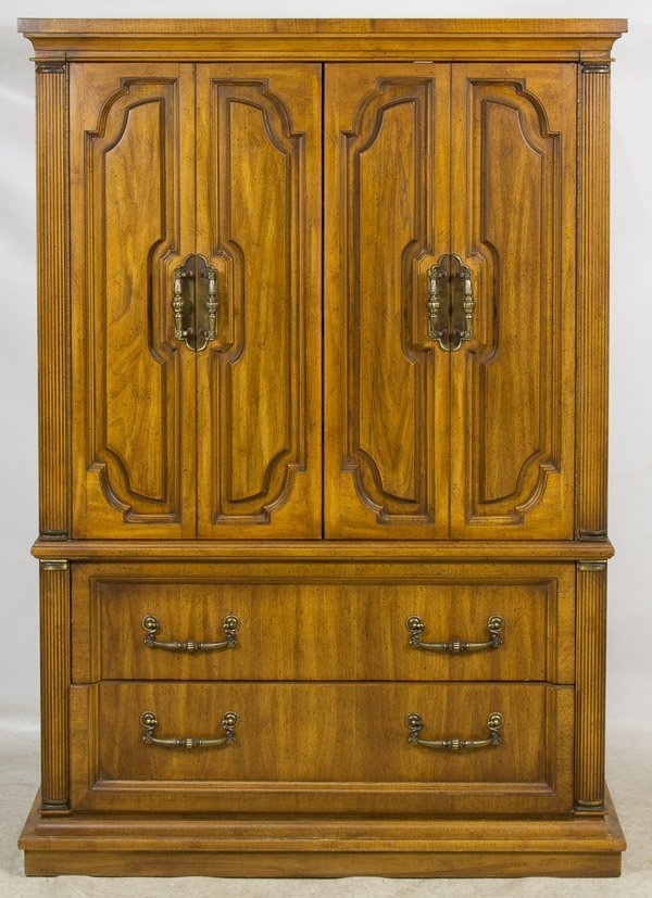 Fruitwood tall dresser cabinet by unique furniture lot 184